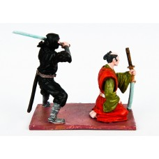Samurai and ninja.(on a single stand).