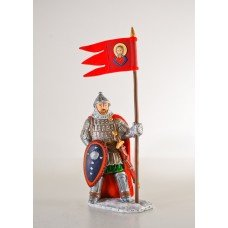 Princely warrior with a flag