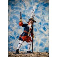 Sergeant of the Semenovsky Life Guards Regiment, 1702-1712
