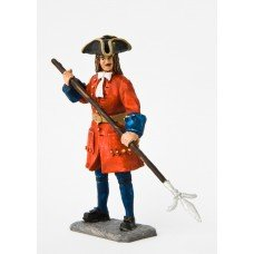 Regimental artillery gunner. 1709 g.