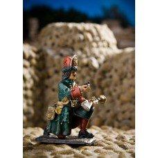 Grenadier of the Semenovsky regiment with a hand mortar 1709-12