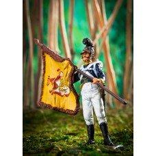 Sergeant standard-bearer of the 1st Württemberg infantry regiment 1812