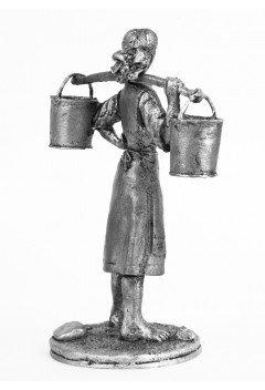 Galya with buckets.