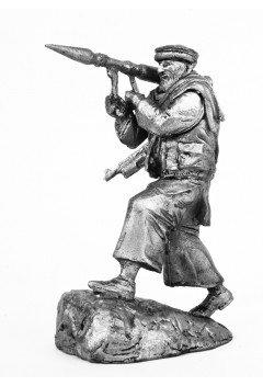 Mujahid, with RPG. Afghanistan.
