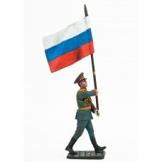 "Standard bearer. Flag of Russia. ""Victory parade"""