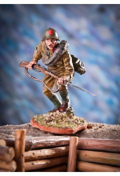 Red Army soldier in the attack. 1942 year